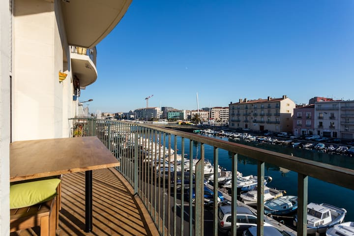T3 Crossing with exceptional canal view - Sète - Apartemen
