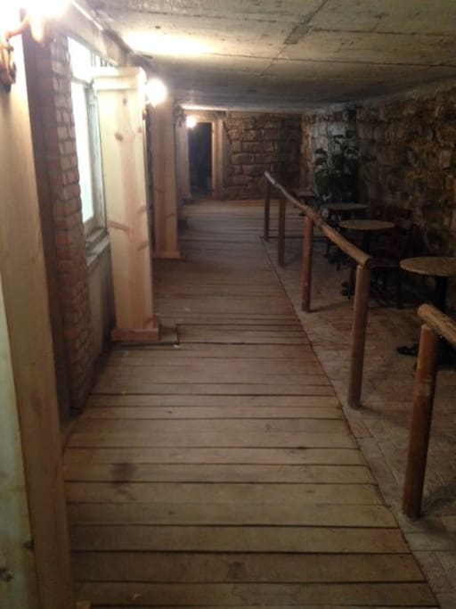Take a tour of the Ellinwood Undergound and see the stores in the tunnels underground as they once were.