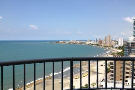 BEACH CONDO OCEAN VIEW CARTAGENA  2BD - PALMETTO 1 - Cartagena