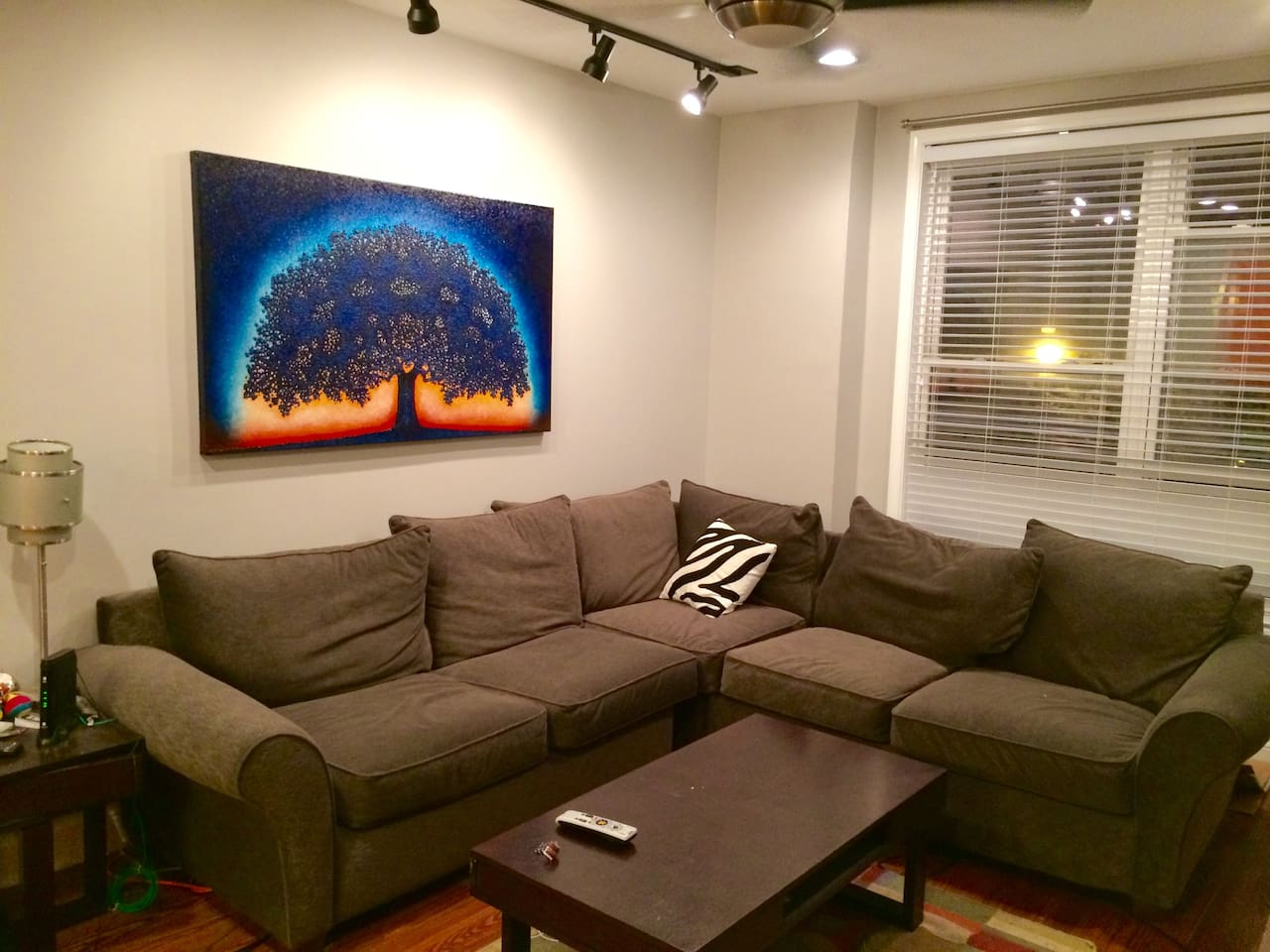 Spacious renovated living room with wide screen TV, Netflix and WiFi internet