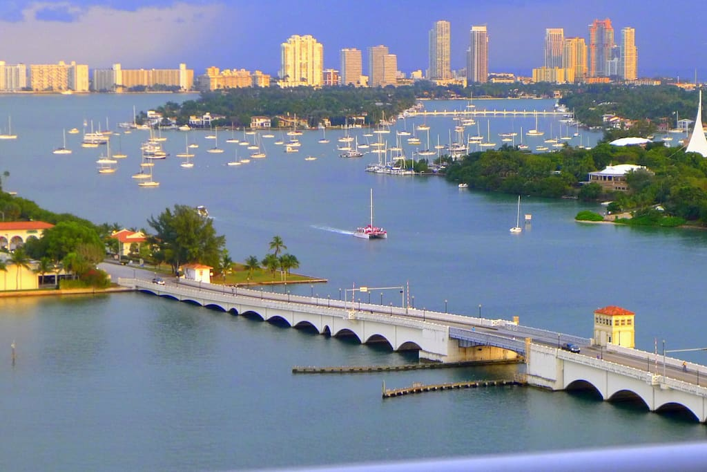 View from Miami  Magic  1800 sqft  Bay view from each bedroom