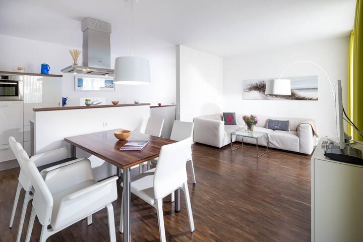 Exkl. FeWo unmittelbar am Meer mit Dachterrasse - Norderney - Apartment