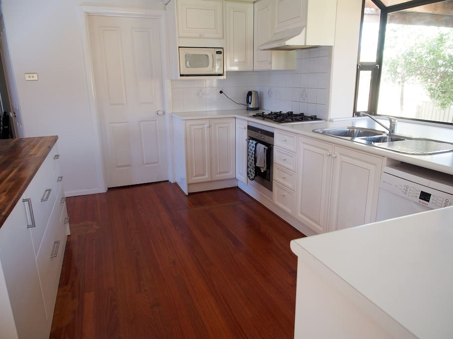 Kitchen with brand new centre Island