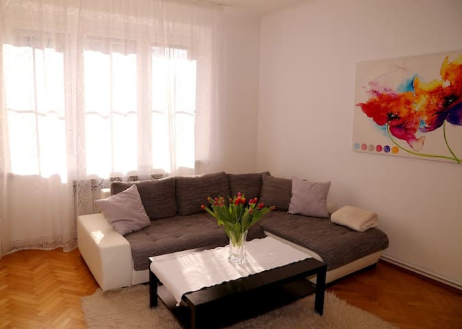 Sunny flat close to Prague castle