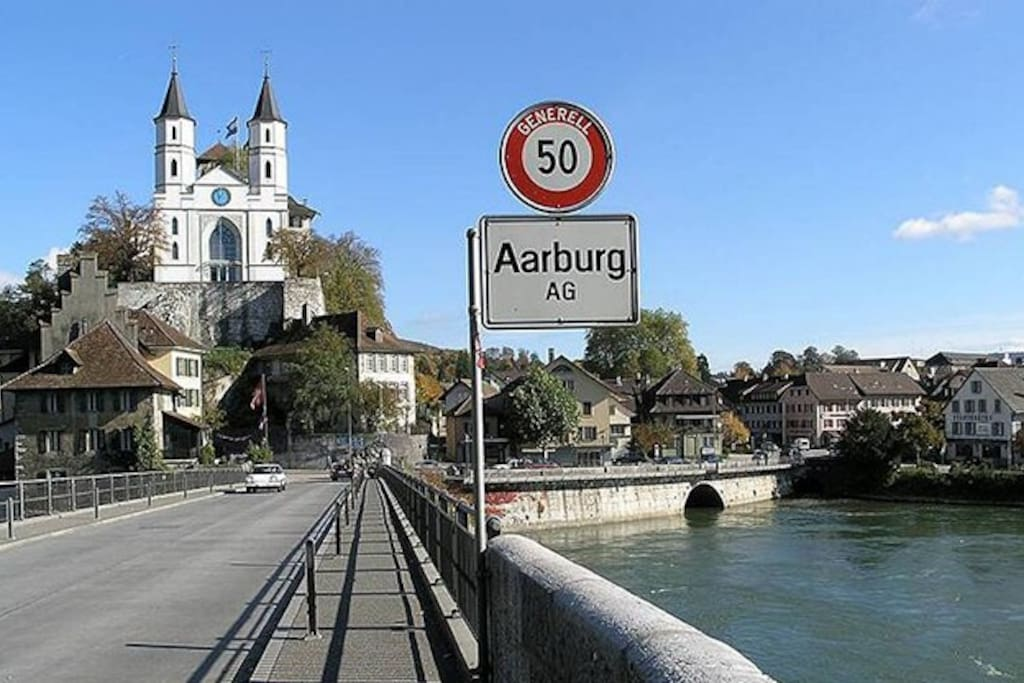 Aarburg im Zentrum der Schweiz