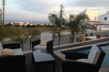 deck veranda next  to the pool