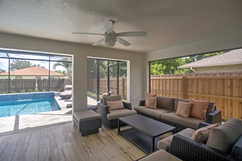 Enjoy sitting back in this tastefully-designed home as fresh air pours in from the wide lanai doors.