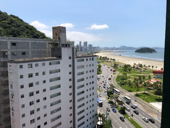Amplo Apto em Frente à Praia em São Vicente/SP