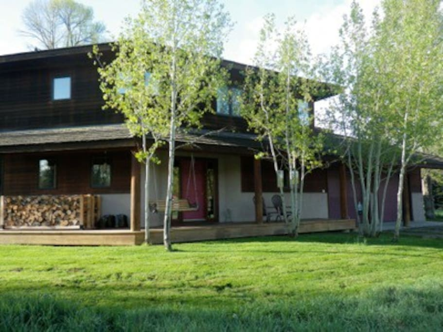 Front Side of house, facing north with full views of the Tetons