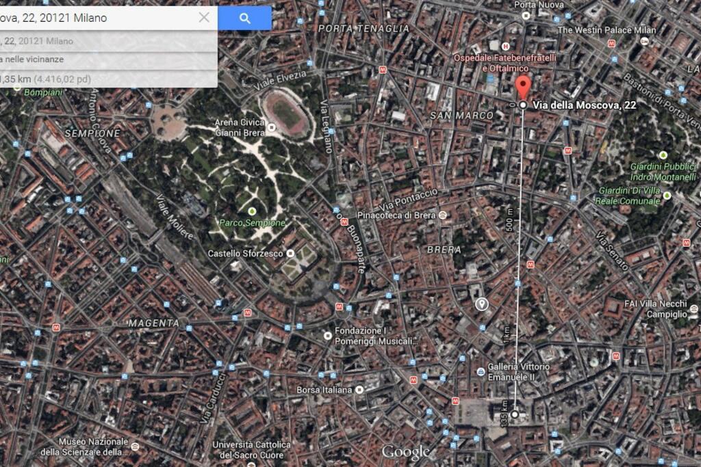 Distance to Duomo: 1,35 Km