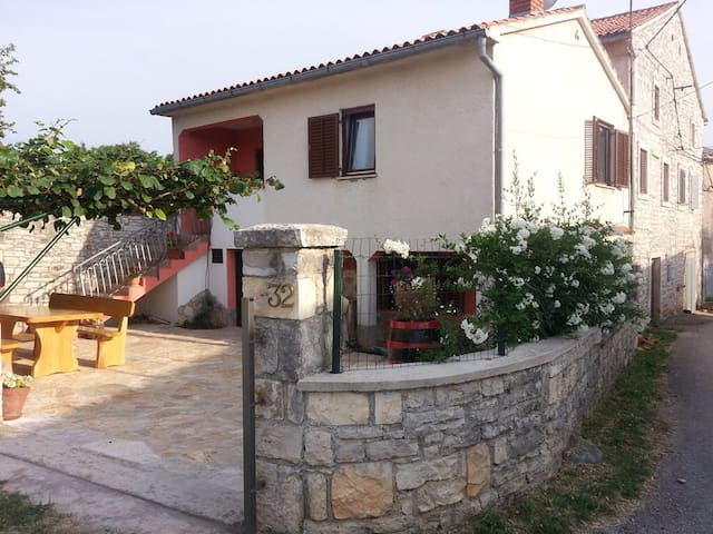 House, garden&parking in Istria - Mrgani - House