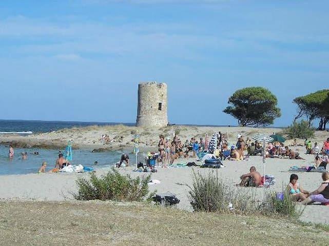 Torre Aragonese e spiaggia posta vicinissima alla residenza.
