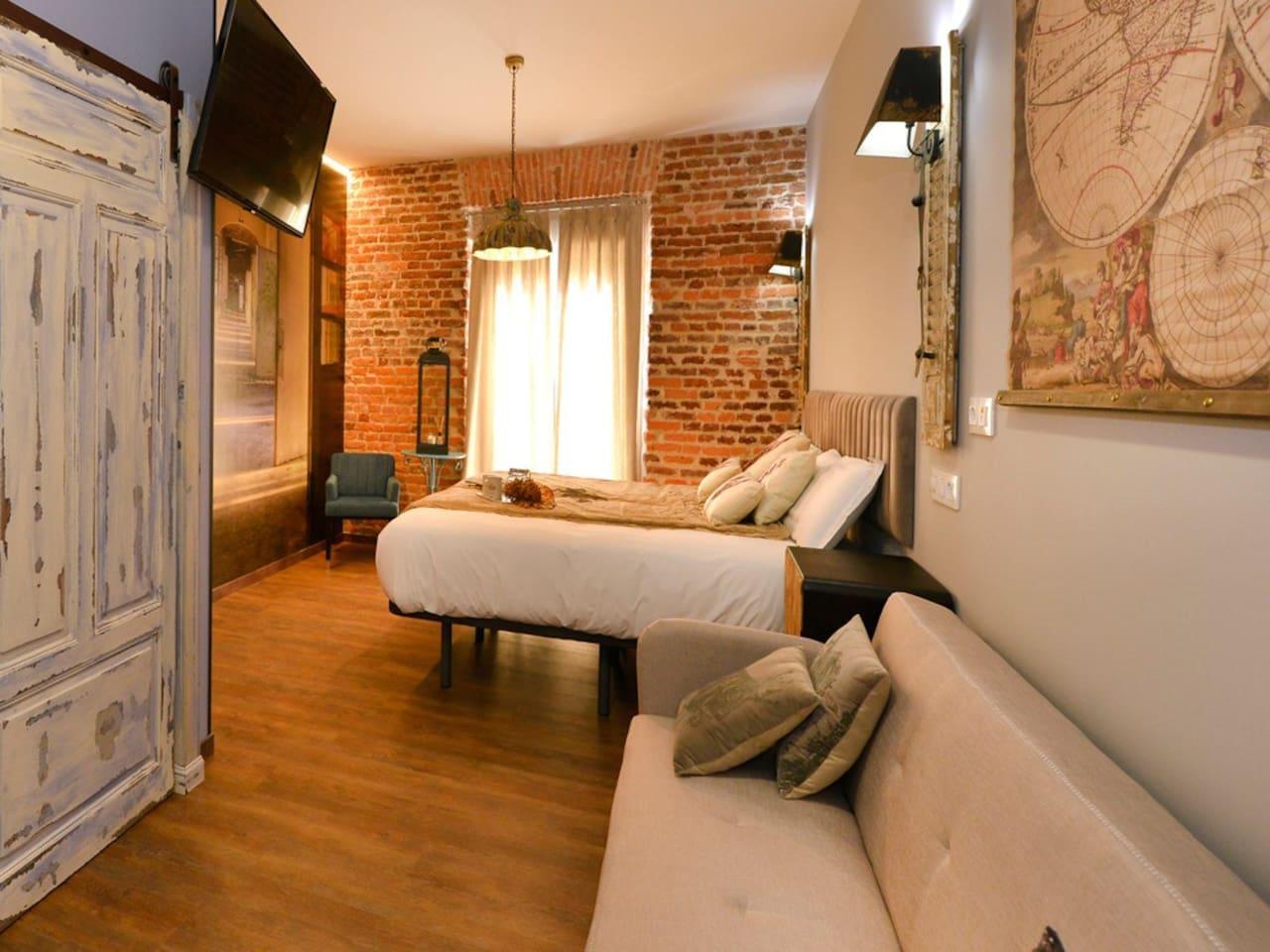 Center Suites Santander Habitación Menéndez Pelayo