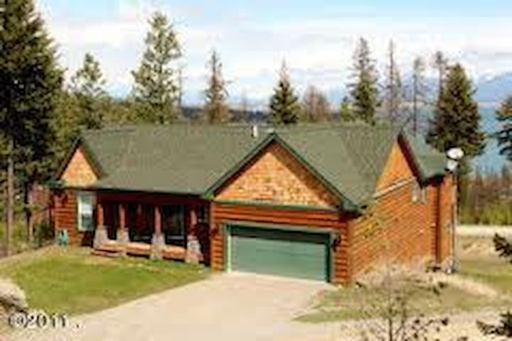 Majestic Home Above Flathead Lake - Lakeside - Casa