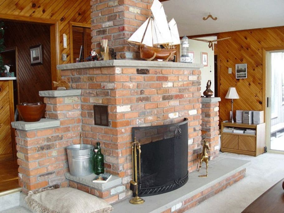 Firebrick fireplace in main Living Room