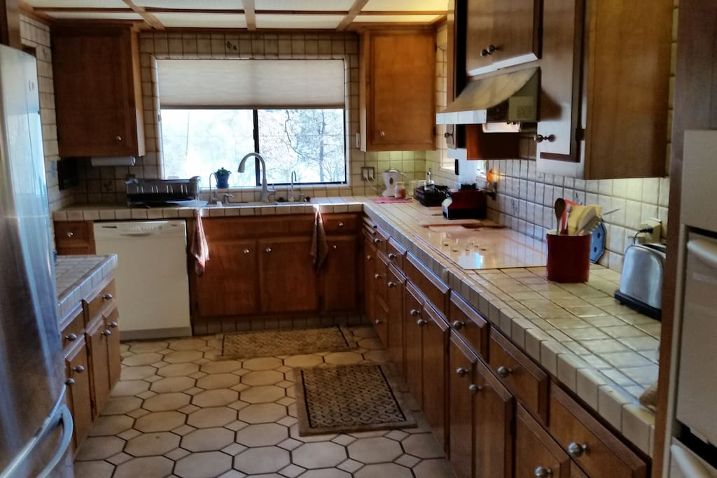 Large, shared kitchen