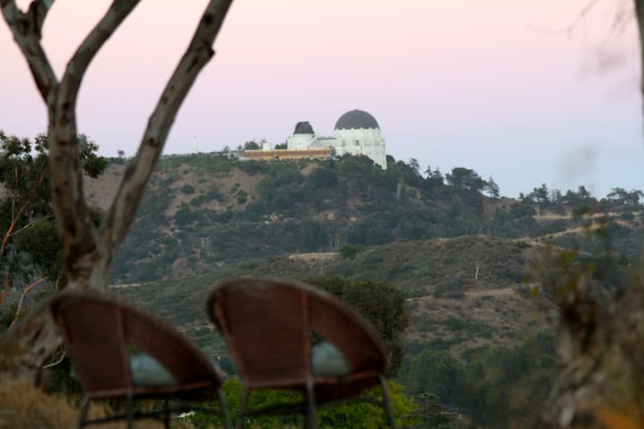Views of Griffith Observatory from property