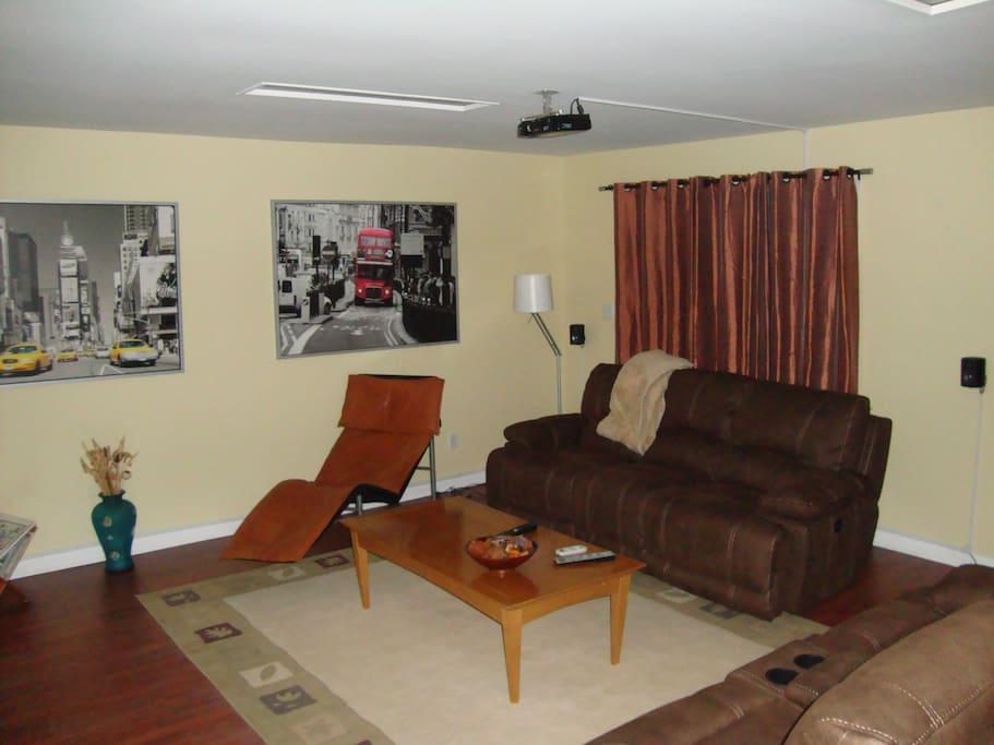 basement sitting area