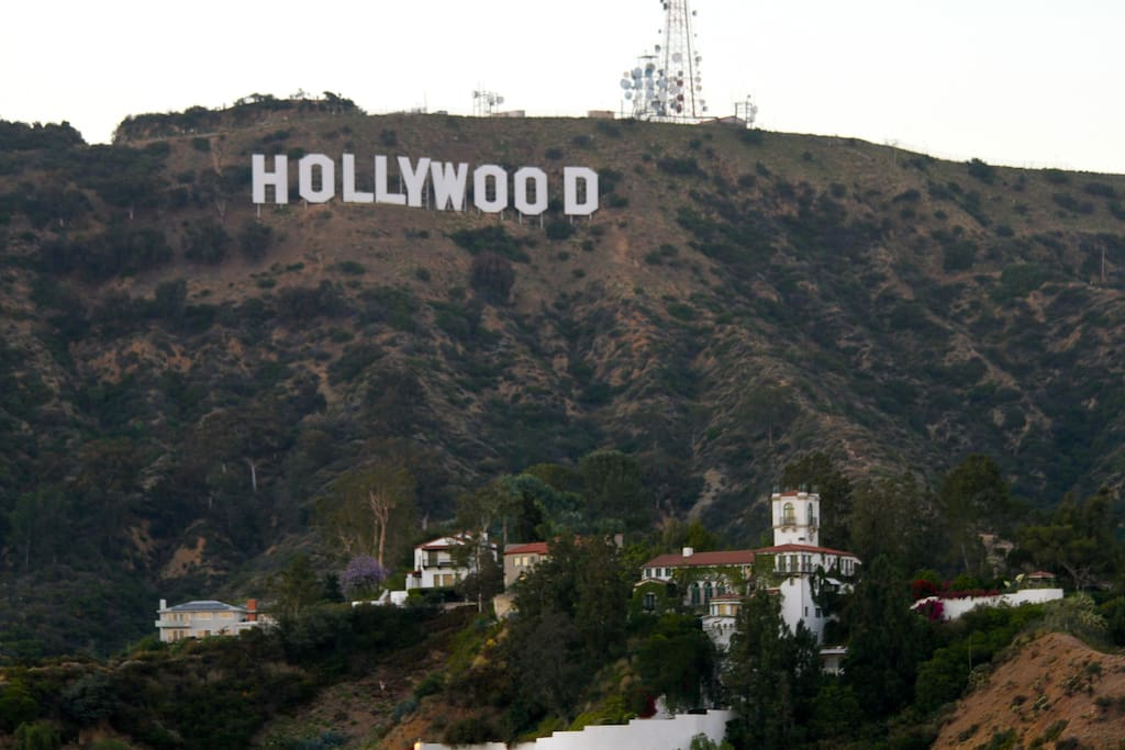 Views of Hollywood sign from property