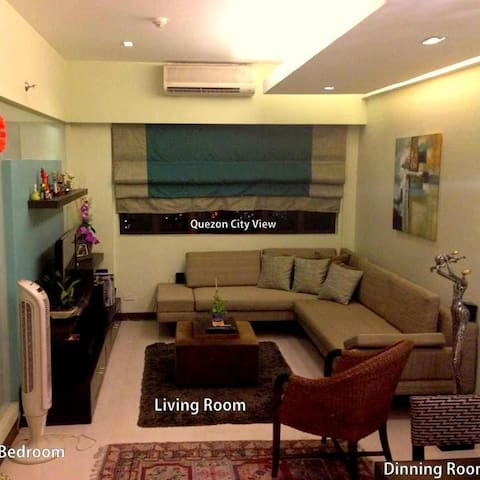 57sqm fully furnished condo unit  - Quezon City - Flat