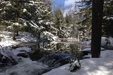 Love Winter!? Cabin on 100 Acres WATERFALL +Trails - Orillia