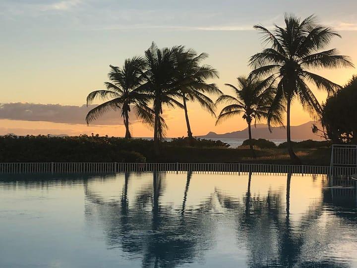Éden lagon 2 dans résidence avec plage et piscine