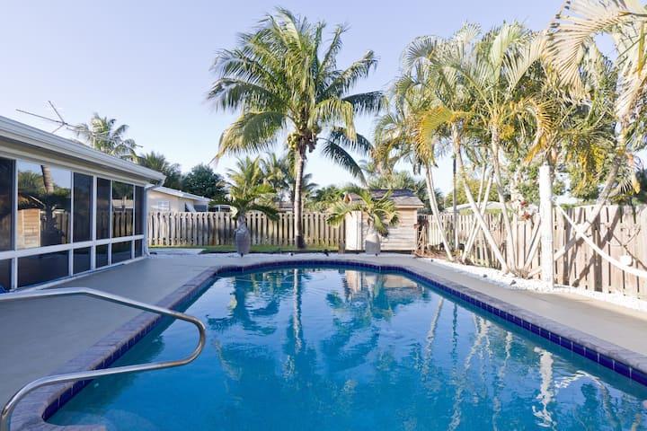 Beach House with Heated Pool