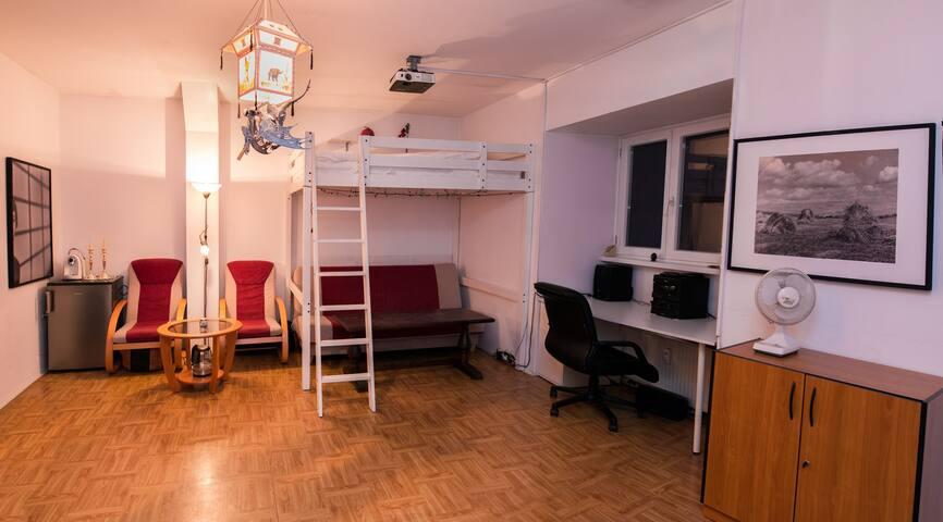 Studio na poddaszu w samym centrum Katowic