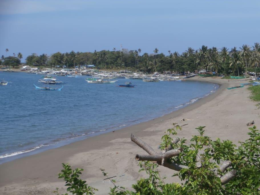 Blick von unserem Grundstück zum Strand