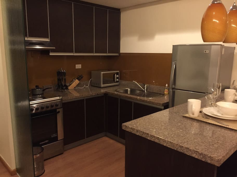 Fully equipped and marble counters provide a night in should our guests choose to cook !