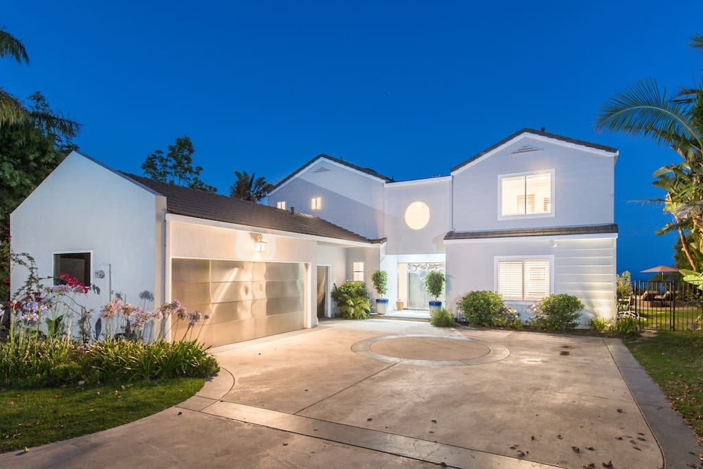 Coveted Contemporary Architectural Home in desirable Mid- Malibu Location.
