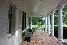 Front Porch with bricks made on site in 1801 and 1835