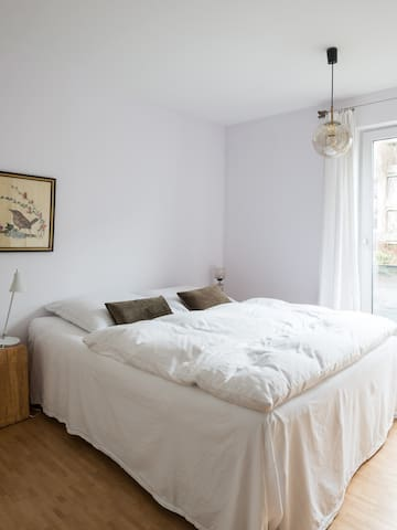 Both bedrooms come along with white linen and comfortable mattresses