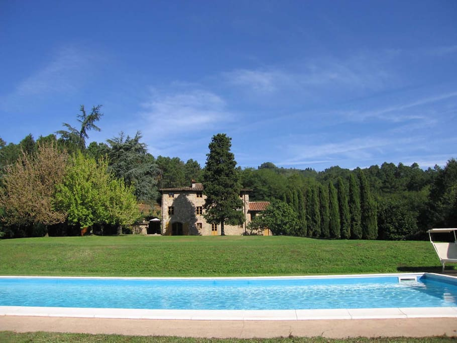 House, garden and pool