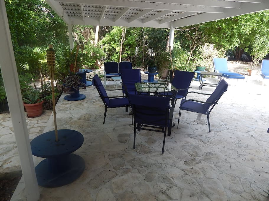 Large patio - ideal for outdoor meals and BBQ's with family and friends