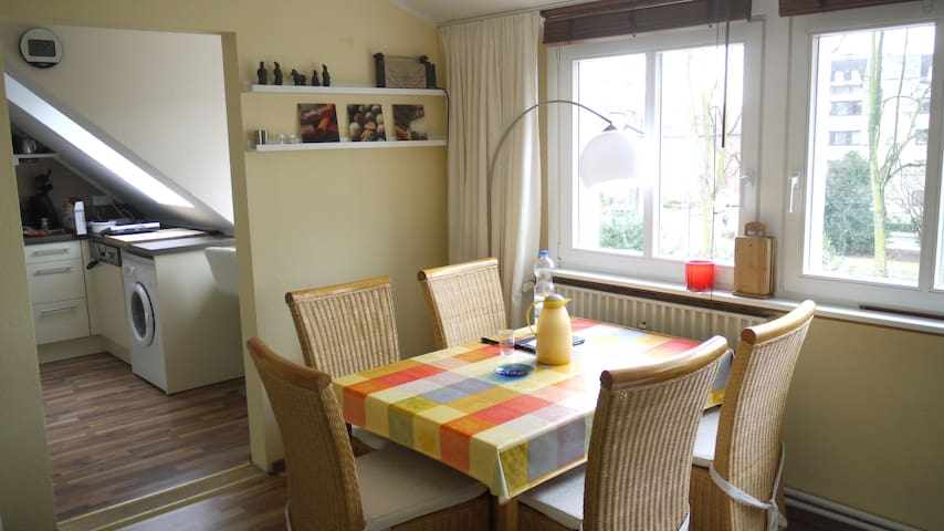 Blick auf die Promenade - Münster - Apartament
