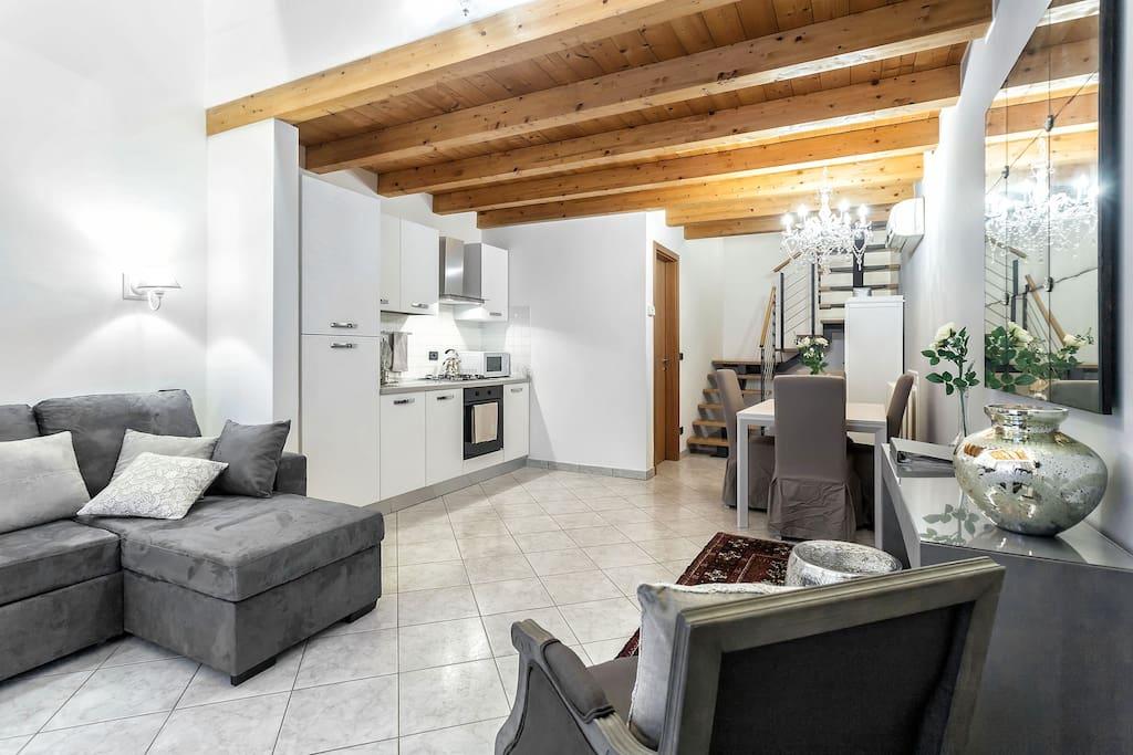 Living-room e cucina