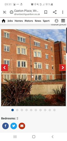 lovely apartment Wrexham town centre
