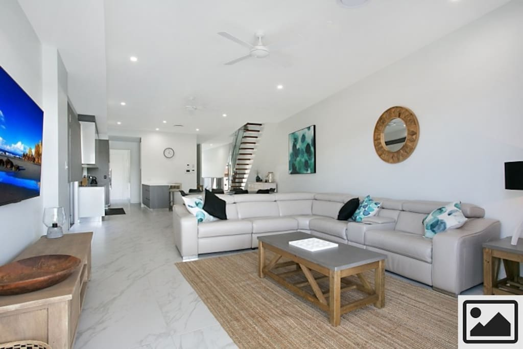 Open Plan Living, Dining and Kitchen areas have been carefully thought out and contain everything you need for holiday entertaining.