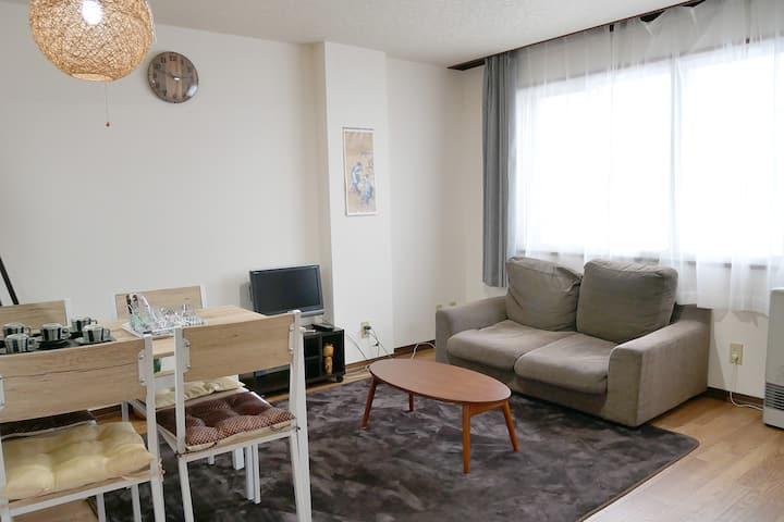 60㎡/2bedroom/good location/free parking/Max 10ppl
