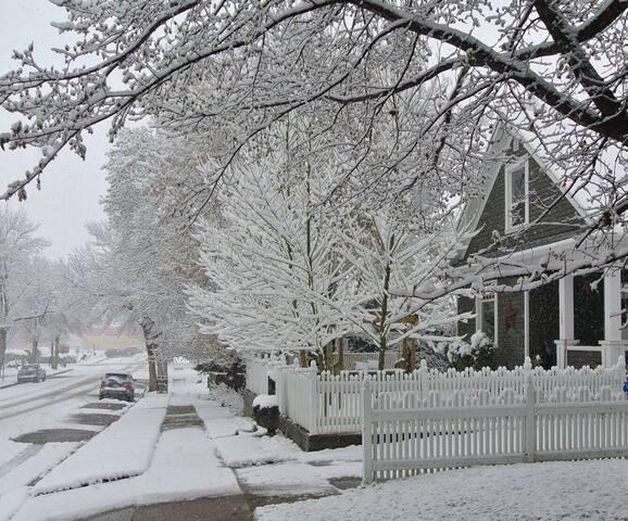 Winter scene Dwyn-Anne's Country Inn Air B&B