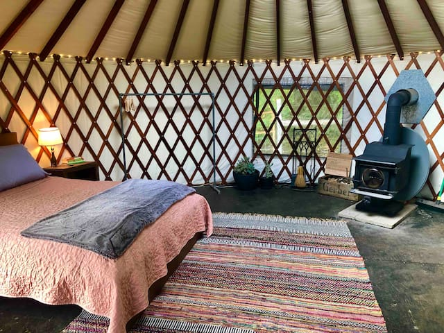 Cozy & Zero-Waste Yurt on Vegan, Regenerative Farm