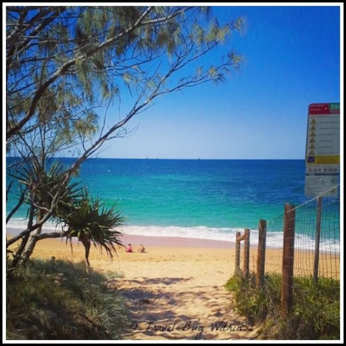 Beautiful Shelly Beach is a quiet, well kept secret with rock  pools.