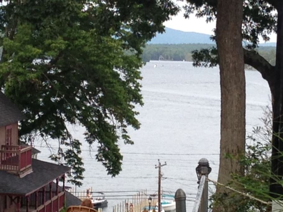 Beautiful lake view from the front porch and windows