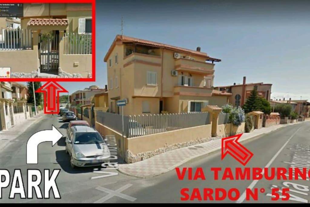 My home: via Tamburino Sardo, 55