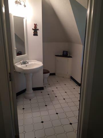 Dorm bathroom with shower
