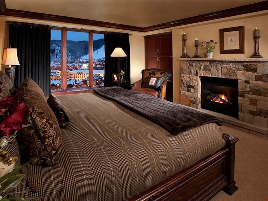 Get a good night's rest in the cozy master bedroom.