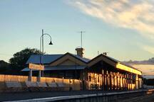 Queenscliff Historic Railway Station, as the sun sets on another day.