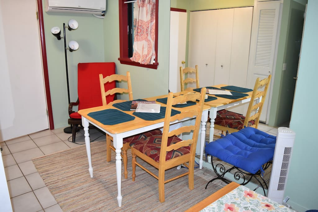 Dining area in bedroom