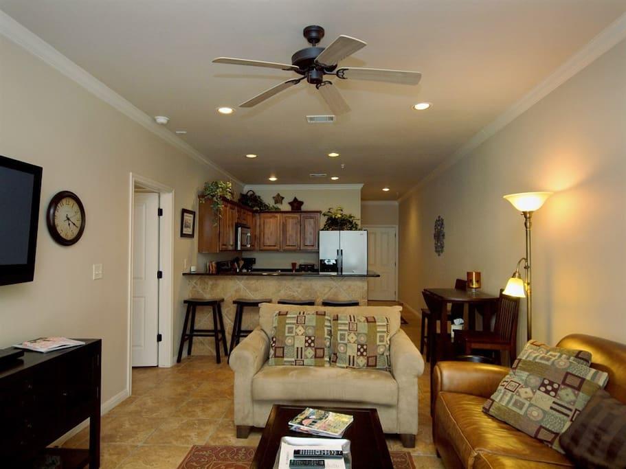 Village at Gruene 103-Living Room